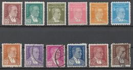 Turkey 1951 Mi# 1273-85 DEFINITIVES, ATATURK (see Scan) - Unused Stamps