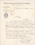 DIEDENHOFENER CEMENTWERKE  --  1901 - Frankreich