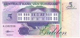 SURINAM  5 Gulden  Daté Du 10-02-1998   Pick 136 B        ***** BILLET  NEUF ***** - Surinam