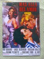 Folleto De Mano. Película Más Allá Del Amor. Angie Dickinson. Troy Donahue. 1962 - Non Classificati