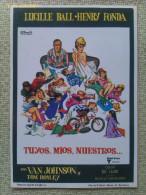 Folleto De Mano. Película Tuyos, Míos, Nuestros. Henry Fonda. Lucille Ball. 1968 - Cinemania