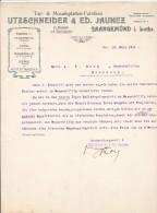 SAARGEMUND  ( SARREGUEMINES )  ---  UTZSCHNEIDER  & ED. JAUNEZ  --  1911 - Frankreich
