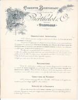 GRENOBLE  --  CEMENTS BERTHELOT  --  1901 - Frankreich