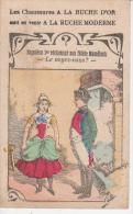 CHROMO Publicité A LA RUCHE D´OR  -Napoléon 1er  - Au Dos Chaussures - Bonneterie - Lingerie - Confection - Au Bon Marché