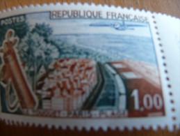 TP France Variété N° 1355 Sans Charnière Sauf Sur Bord De Feuille. Plage Verte Valeur 70€ - Curiosità: 1960-69  Nuovi