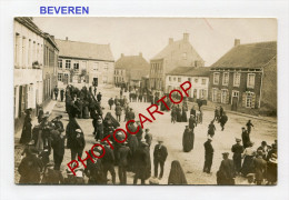 BEVEREN-CIVILS-Animation- Carte Photo Allemande-Guerre 14-18-1WK-BELGIQUE-BELGIE N-Flandern- - Sint-Niklaas
