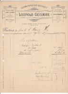 BASEL  --  LEOPOLD GEISMAR  --  1897 - Schweiz