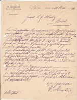 D. KUNDERT  --  SACKE - FABRIK   --  KUNDERT, ZURICH  --  1896 - Schweiz