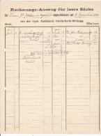 HYDR. KALKFABRIK HOLDERBANK - WILDEGG  --  1900 - Schweiz