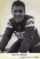 Cyclisme Thème Coureurs Cyclistes Sprinters Tour De France Miguel Bover Carte Dédicacée Autographe Giro Vuelta - Cyclisme