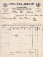 MONSLINGER & HEERLEIN  --  FRUCHTE - CONSERVEN - FABRIK  --  FRANKFURT - Germany