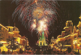POSTCARD FANTASY IN THE SKY OVER THE MAGIC KINGDOM'S REGAL CINDERELLA CASTLE EPLODES WITH BRILLIANT COLOR!!  GECKO. - Disneyworld