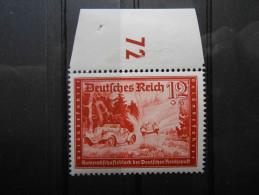 """D.R.Mi 708 - 12+6Pf** Dkl.karminrot - """"Deutsche Reichspost"""" 1939 - Unused Stamps"""