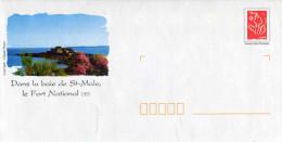 """PAP Avec Timbre """"Lamouche"""" Et Illust. """"Dans La Baie De St-Malo, Le Fort National (35)"""" - Au Verso Lot G4S/07R170 - Entiers Postaux"""