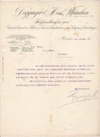 DEGGINGER & HESS  --  MUNCHEN  --  1907  --  IM. - EX. VON FICHTEN , TANNEN , SCHNITTWAREN AUS GALIZIEN UND SIEBENBURGEN - Deutschland