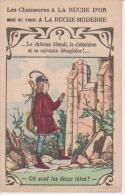 CHROMO Publicité A LA RUCHE D´OR  -Le Château Démoli -  Au Dos Chaussures - Bonneterie - Lingerie - Confection - Au Bon Marché