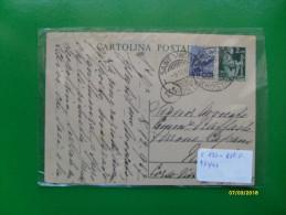 Cartolina Postale 2 Lire Catalogo C 130  + 6 L.viola  9.12.1947 - 6. 1946-.. Repubblica