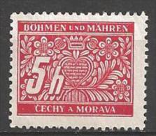 1939 5h Postage Due, Mint Hinged - Unused Stamps