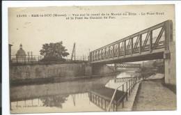 Bar Le Duc, Vue Canal De La Marne Au Rhin, Pont Neuf, Pont Du Chemin De Fer , 1942, Bon état, Voir Photos Recto Verso. - Bar Le Duc