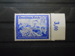 """D.R.Mi 711 - 20+10Pf** Lebh.lilaultramarin - """"Deutsche Reichspost"""" 1939 - Unused Stamps"""