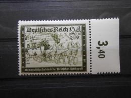 """D.R.Mi 712 - 24+10Pf** Schwarzoliv - """"Deutsche Reichspost"""" 1939 - Germany"""