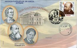 Romania / Special Cover With Special Cancellation / Nicolae Iorga - Scrittori