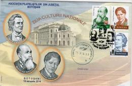 Romania / Special Cover With Special Cancellation / Nicolae Iorga, Mihai Eminescu, George Enescu - Altri