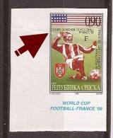 1998  73-104 FUSSBALL BOSNIA REPUBLIKA SRPSKA  USA  AMERICA    UNICAT IMPERFORATE WELTMEISTERSCHAFT FRANKREICH MNH BUG - Coupe Du Monde
