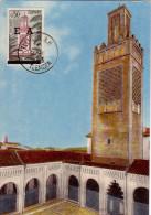 ALGERIE - TLEMCEN - SURCHARGE EA SUR CARTE PAXIMUM PREMIER JOUR LE14-1-1963. - Algérie (1962-...)