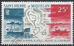 SAINT-PIERRE ET MIQUELON - 25 F. Voyage Du Général De Gaulle TTB - Airmail