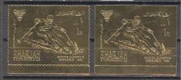 Sharjah: Michel N°464A/B ; Jeux Olympiques De Grenoble; Or; Gold; Voir Scan - Arabie Saoudite