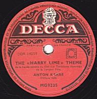 """78 Trs - DECCA MG 9235 - état EX - ANTON KARAS - THE """"HARRY LIME"""" THEME - THE CAFE MOZART WALTZ - 78 T - Disques Pour Gramophone"""