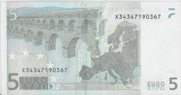 VF NOTA 5 EUROS DA ALEMANHA P017 - A1 ASSINATURA TRICHET  UNC - EURO