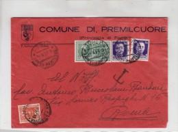 Espresso Da Premilcuore A Roma Tassata 1937 - Express Mail