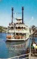 "POSTCARD DISNEYLAND DOWN THE GREAT ""RIVERS OF AMERICA"". MARK TWAIN PADDLE-WHEEL. GECKO. - Disneyland"