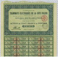 Tramways Electriques De La Cote D'Azur à Cannes - Chemin De Fer & Tramway