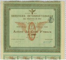 Sté Des Services Internationnaux Des Chemins De Fer - Chemin De Fer & Tramway