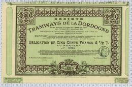 Sté Des Tramways De Dordogne à Périgueux - Chemin De Fer & Tramway