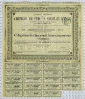 Sa Des Chemins De Fer De Seine Et Marne, 1874 - Chemin De Fer & Tramway