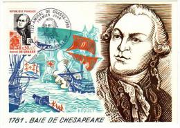 France / Maximum Cards / Famous Persons / Army / Amiral De Grasse - Cartoline Maximum