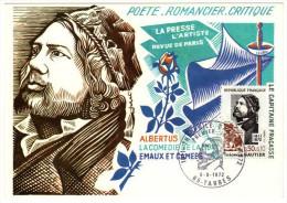 France / Maximum Cards / Famous Persons / Poet / Romcier / Critique / Theophile Gautier - 1970-79