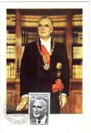 France / Maximum Cards / Famous Persons / President G. Pompidou - Cartoline Maximum