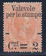 Italy, Scott # 62 Used Parcel Post Stamp, Surcharged, 1890 - Used