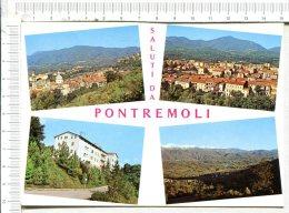 PONTREMOLI  -  SALUTI  DA............ -   Panorama Con Il Castel Piagnaro  - Golf Hotel -   4 Vues - Massa