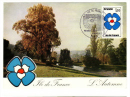 France / Maximum Cards / Art / Ile De France / Autumn - Cartoline Maximum