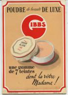 PUBLICITE  CARTON P.L.V.  -   GIBBS  -  POUDRE DE LUXE - UNE  GAMME DE 7 TEINTES - Pharmacie - Paperboard Signs