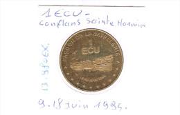 1 ECU De CONFLANS - SAINTE - HONORINE . 13 980 Exemplaires . - Euros Of The Cities
