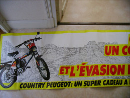 PEUGEOT  Country  - Offrez Un Country Et L'évasion En Plus  - à Partir De 3885 F. - Tarcus S.A. Cycles Peugeot Beaulieu - Posters
