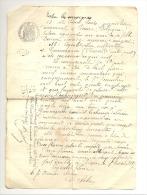 Acte Notarié - ROISIN 1887 - Bail Entre  Louis Solau (Rentier) Et Léon Coquelet De Gommegnies (France) (sf87) - Manuscripts