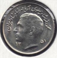IRAN 1 RIAL 1351 - 1972  FAO KM# 1183 - Iran